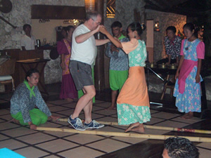 Dave danced Tinikling in Davao