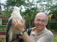 Dave Underwood in Davao with Eagle