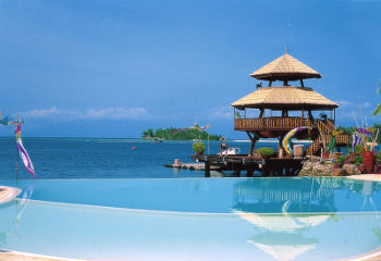 The Pearl Farm Beach Resort in Samal some 45 minutes from Davao