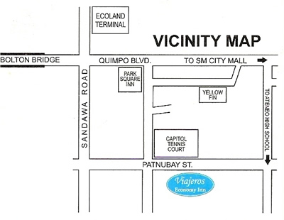 davao city map viajeros economy inn